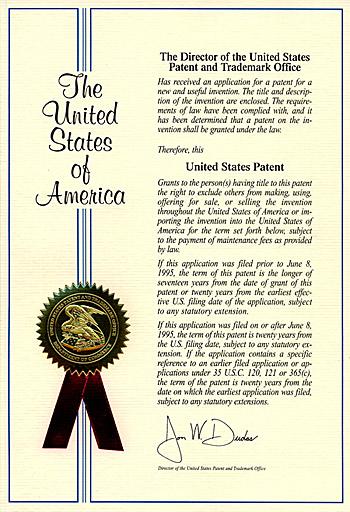 Патент США на изобретения в области психологии